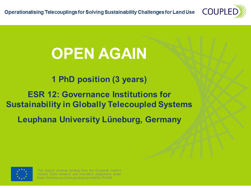 1 PhD position (3 years) in Governance Institutions for